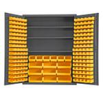 DURHAM SSC-185-3S-NL-95, Cabinet, 3 shelf, 185 yellow bin no legs