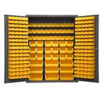 DURHAM SSC-227-NL-95, Bin Cabinet, 227 yellow bins, no legs
