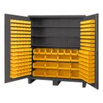 DURHAM SSC-722484-BDLP-212-3S-95, Cabinet, 3 shelves, 212 yellow bins