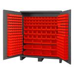 DURHAM SSC-722484-BDLP-264-1795, Bin Cabinet, 24X72, 264 red bins