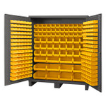 DURHAM SSC-722484-BDLP-264-95, Bin Cabinet, 24X72, 264 yellow bins