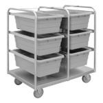 DURHAM STBR-303642-6-5PU, Stainless Steel Tub Rack Cart, 6 bins