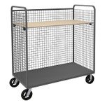 DURHAM W3ST-304868-1AS-8MR95, Wire Cart, 1 adjustable shelf