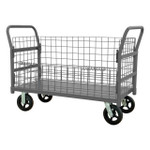 DURHAM W4SPTDG-244838-1-8MR95, Wire Cart, removable handles, drop gate