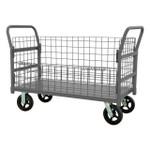 DURHAM W4SPTDG-244838-1-8MR95, Wire Cart, removable handles, drop gate