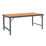 DURHAM WBF-TH-3660-95, Folding Leg Workbench, hard board top