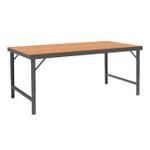 DURHAM WBF-TH-3660-95, Folding Leg Workbench, hard board top