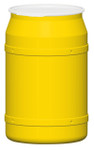 55 Gal. Drum (Yellow) Open-Head Straight w/ Plastic Ring