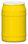55 Gal. Drum (Yellow) Open-Head Straight w/ Plastic Ring