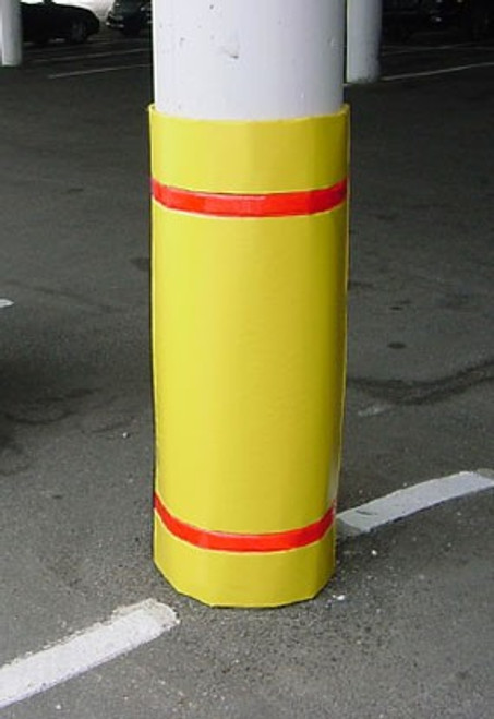 """Innoplast 44"""" H x 72"""" W Yellow Column Wrap Soft Padded Cover w/White Tape"""