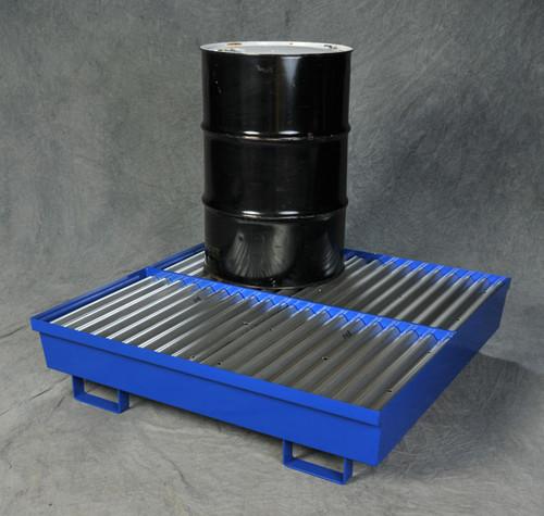 Four Drum Steel Containment Pallet