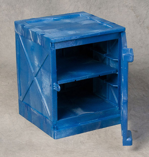 Poly Cabinet Bench Top 1 Door-2 Shelves-Blue