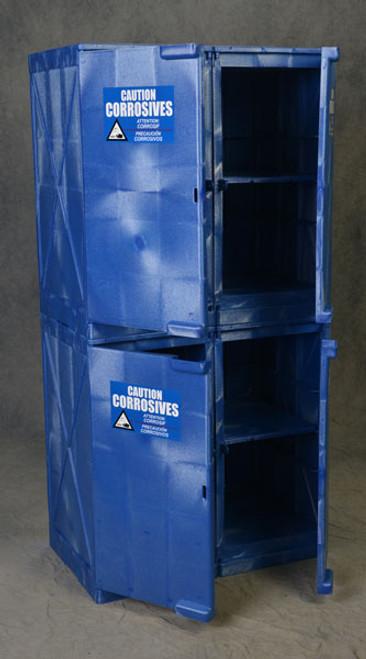 Poly Cabinet Modular 4 Doors-16 Shelves-Blue