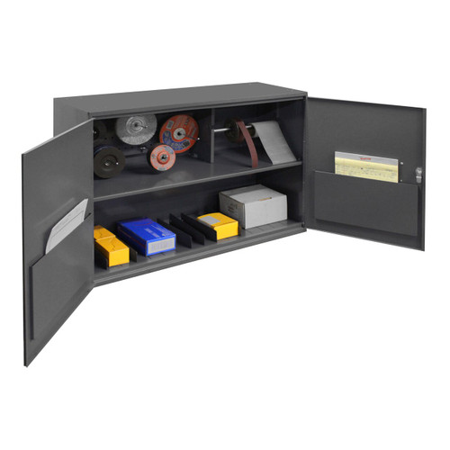 DURHAM 060A-95-WFS, Wall Mounted Storage Cabinet, 2 shelves