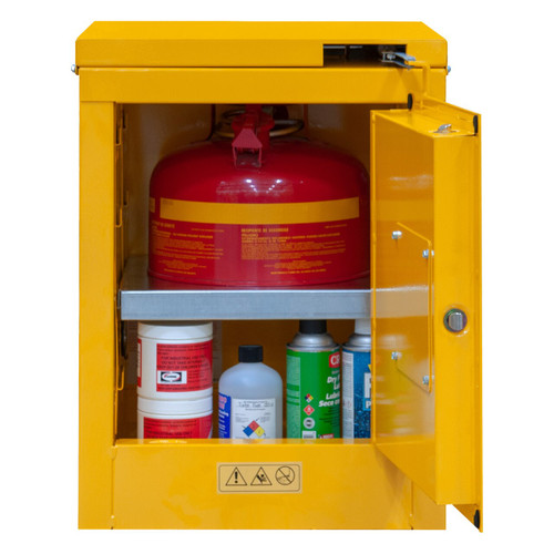 DURHAM 1004S-50, Flammable storage, 4 gallon, self close