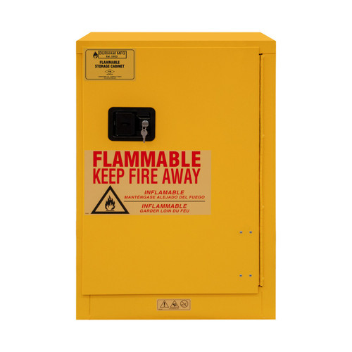 DURHAM 1012M-50, Flammable storage, 12 gallon, manual