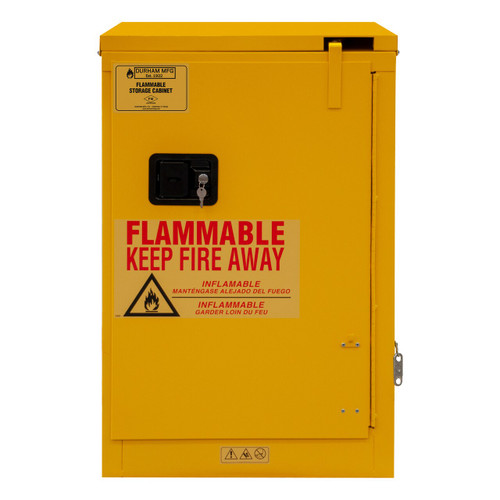DURHAM 1012S-50, Flammable storage, 12 gallon, self close