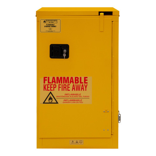 DURHAM 1016S-50, Flammable storage, 16 gallon, self close