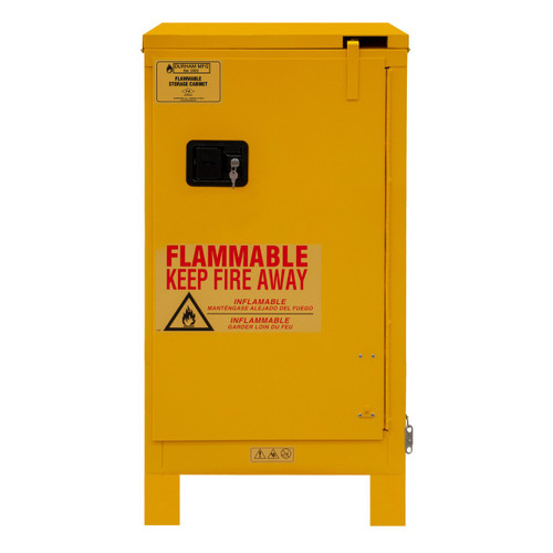 DURHAM 1016SL-50, Flammable storage, 16 gallon, self close