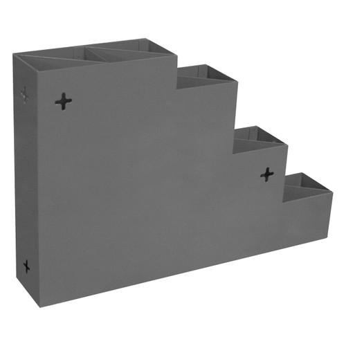 DURHAM 298-95, Cable tie rack, steel, gray