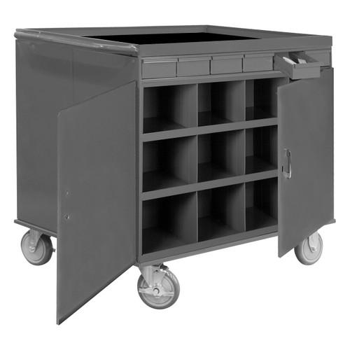 "DURHAM 662-95, 6 drawers, 11-5/8"" deep, gray"