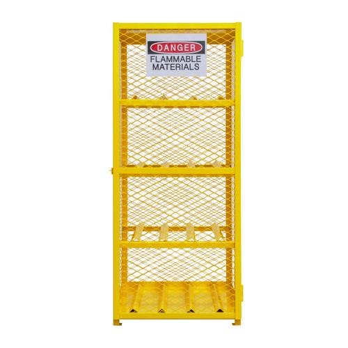 DURHAM EGCC8-50, Horizontal Gas Cylinder Cabinet, Cap. 8