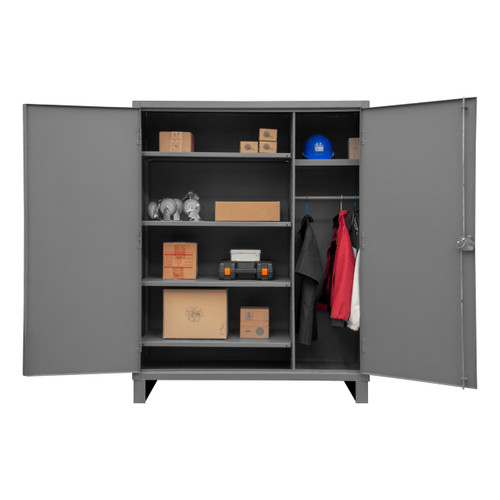 DURHAM HDWC246078-5S95, Cabinet, 24X60, 5 shelf, hanger bar