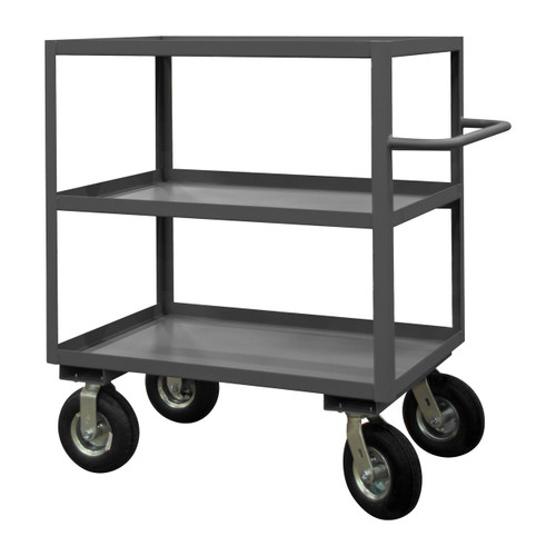 DURHAM RICNM-243645-3-ALU-95, Rolling Instrument Cart, 3 shelves