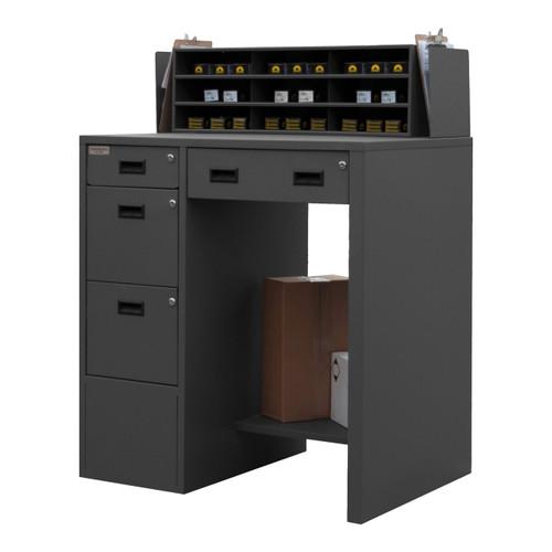DURHAM SFWS-392955-95, Stationary File Workstation Stand Up Des