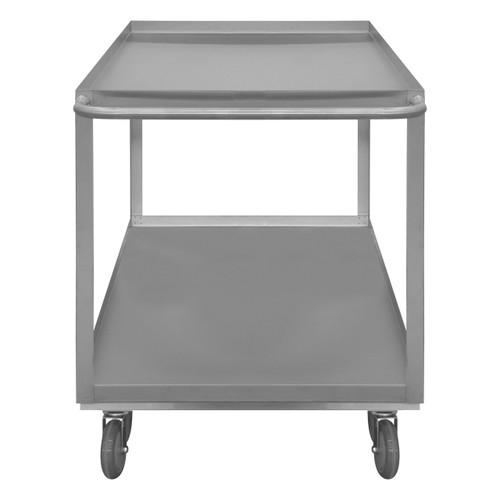 DURHAM SRSC1624482ALU5PUS, Stainless Steel Stock Cart, 2 shelves