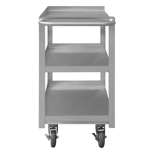 DURHAM SRSC1630603FLD5PU, Stainless Steel Stock Cart, 3 shelves