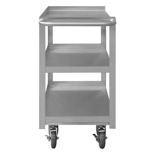 DURHAM SRSC1630603FLD5PU, Stainless Steel Stock Cart, 3 shelves