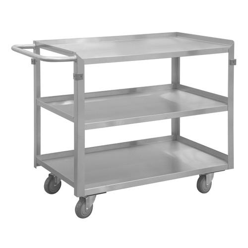 DURHAM SRSC2016243FLD4PU, Stainless Steel Stock Cart, 3 shelves