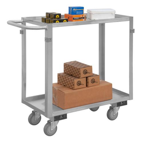 DURHAM SRSC2016302ALU4PU, Stainless Steel Stock Cart, 2 shelves