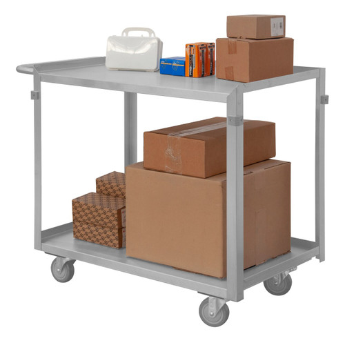 DURHAM SRSC2022362FLD4PU, Stainless Steel Stock Cart, 2 shelves