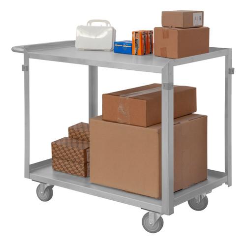DURHAM SRSC2022362FLD4PU, Stainless Steel Stock Cart, 2 shelves