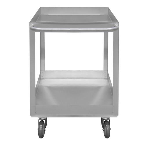 DURHAM SRSC31618302ALU5PUS, Stainless Steel Stock Cart, 2 shelves