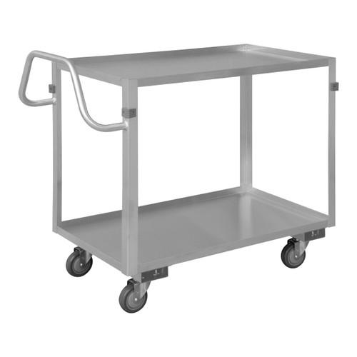 DURHAM SRSCE2022362ALU4PU, Stainless Steel Stock Cart, 2 shelves