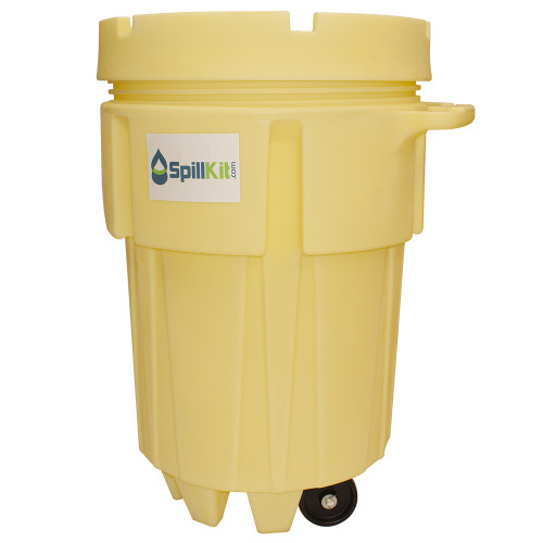 95 Gallon Wheeled Overpack Salvage Drum Spill Kit - HazMat by SpillKit.com