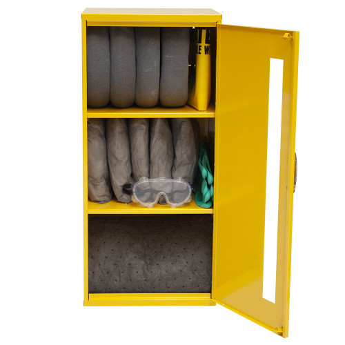 Wall-Mount Spill Locker Spill Kit - Universal by SpillKit.com