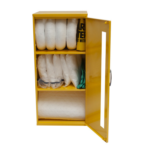 Wall-Mount Spill Locker Spill Kit - Oil Only by SpillKit.com