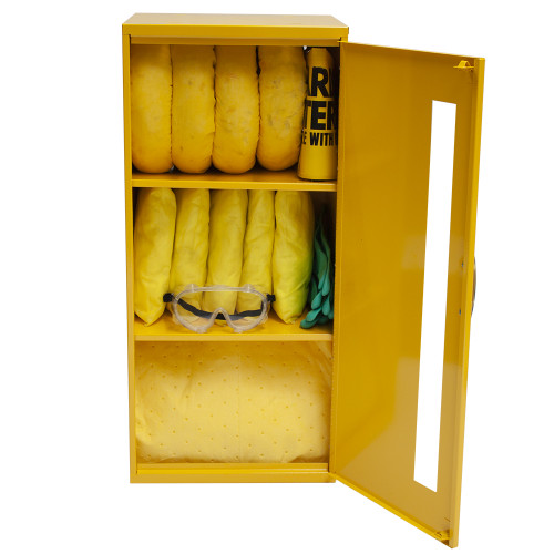 Wall-Mount Spill Locker Spill Kit - HazMat by SpillKit.com