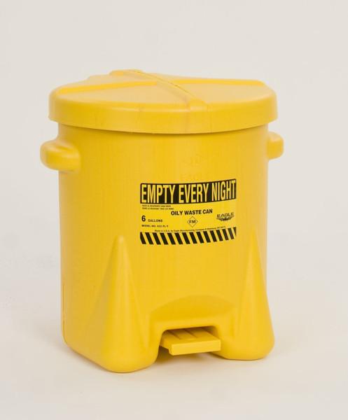 Polyethylene - Yellow w/Foot Lever - 14 Gal. (937-FLY)
