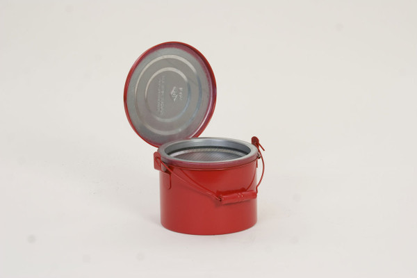Metal - Red Bench Can - 4 Qt.