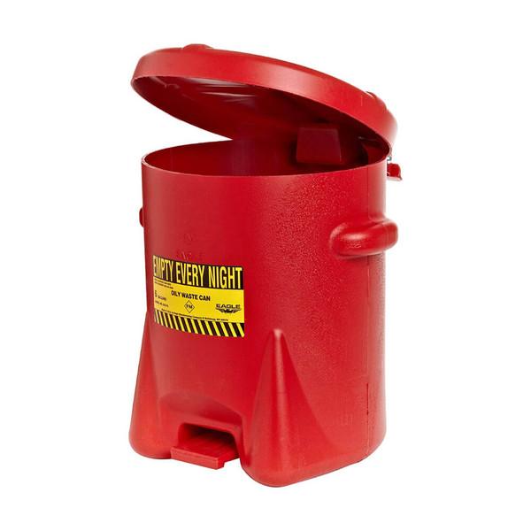 Polyethylene - Red w/Foot Lever - 14 Gal. (937-FL)
