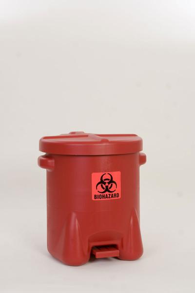 Polyethylene - Red w/Foot Lever - 14 Gal. (947BIO)