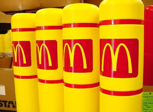 "Innoplast 3.75"" x 5.00"" Red Reflective McDonald's Logo  - Small"