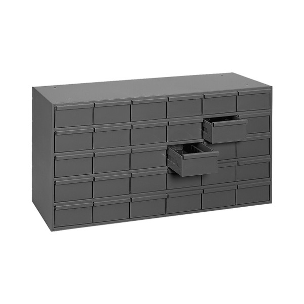 "DURHAM 035-95, 30 drawers, 17-1/4"" deep, gray"