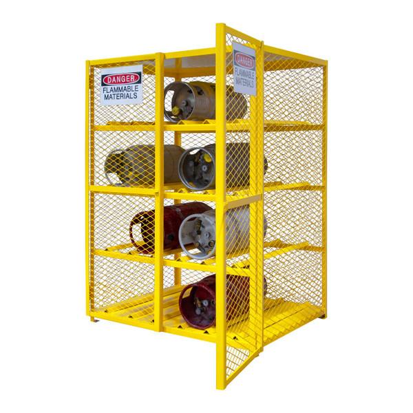 DURHAM EGCC12-50, Horizontal Gas Cylinder Cabinet, Cap. 12