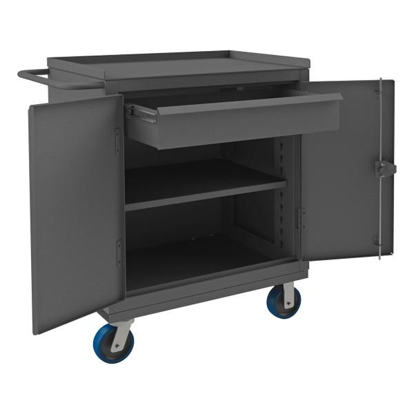 DURHAM HDCM243647-1T95, Heavy Duty Mobile Bench Cabinet, 1 shelf